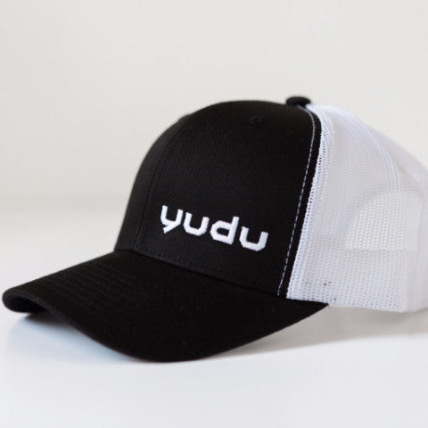 Black and White Snapback Trucker