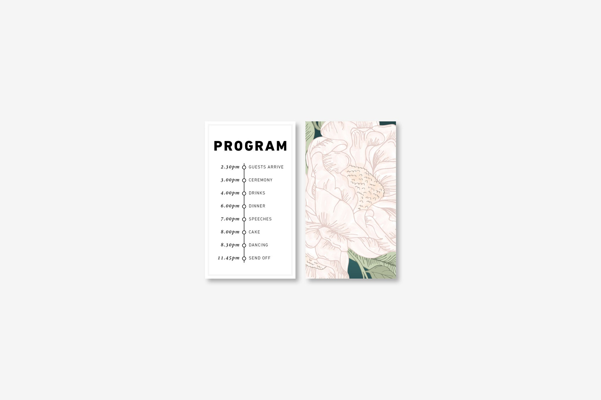 Wedding Program | Blooms | Designed in Perth, Australia