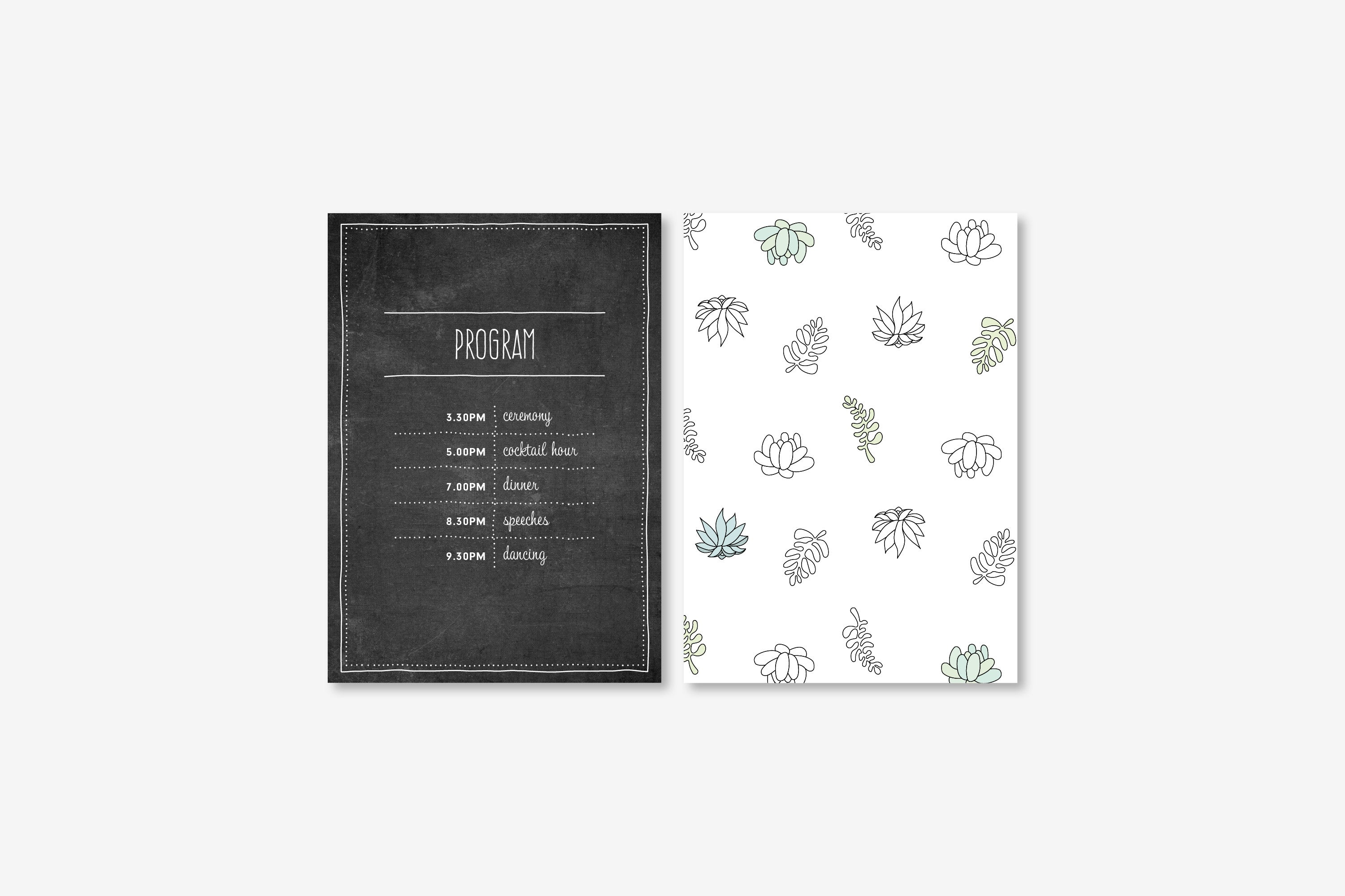 Succulents on Chalk | Program