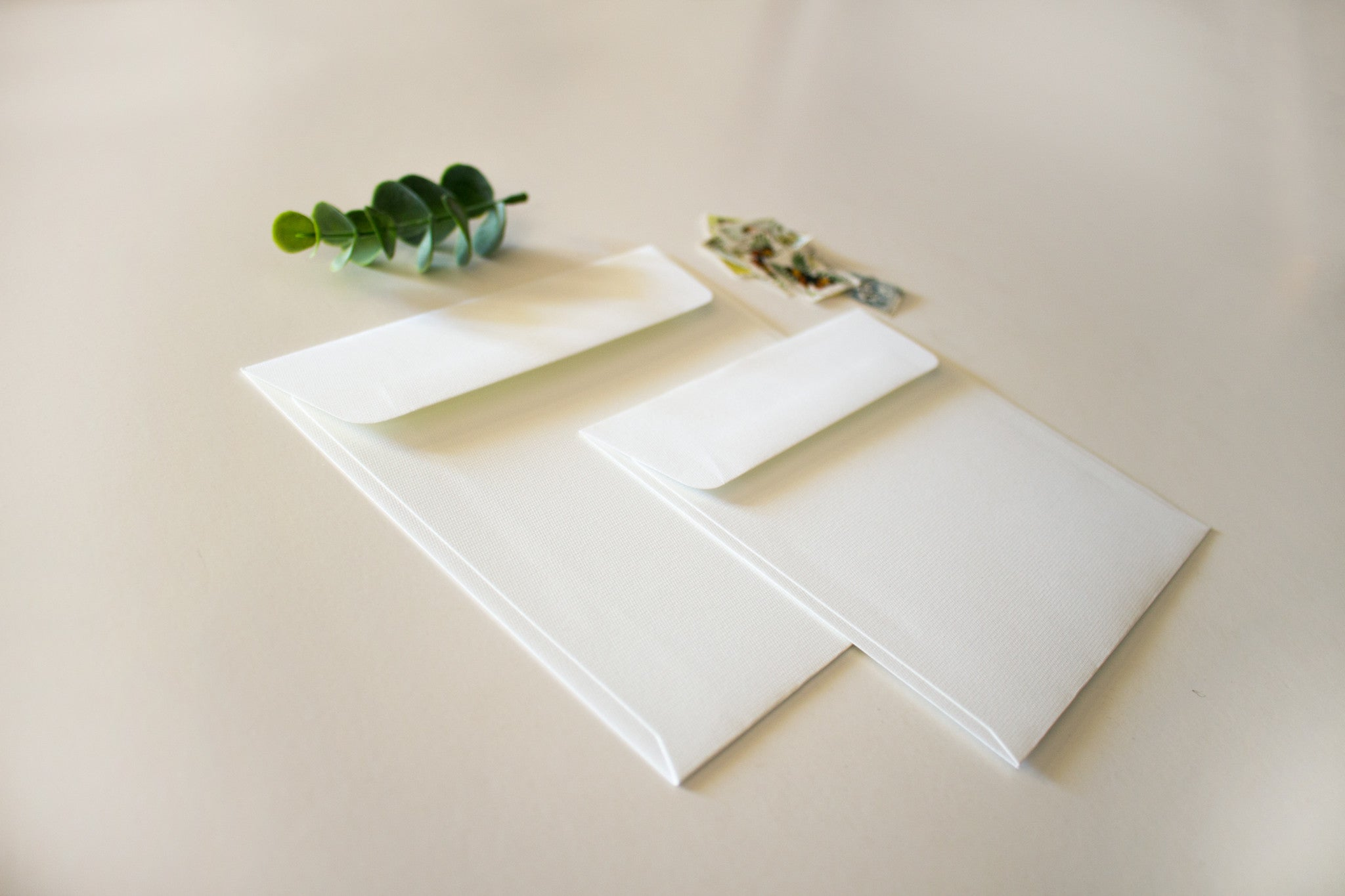 White Linen Envelope