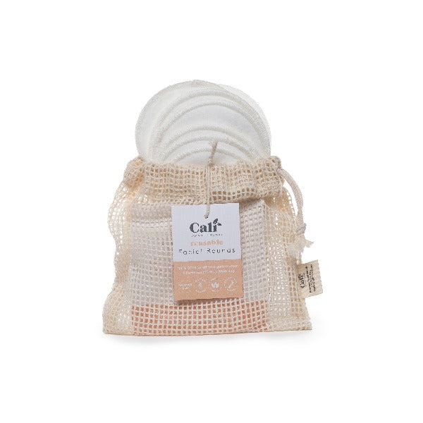 CaliWoods Reusable Cotton Facial Rounds