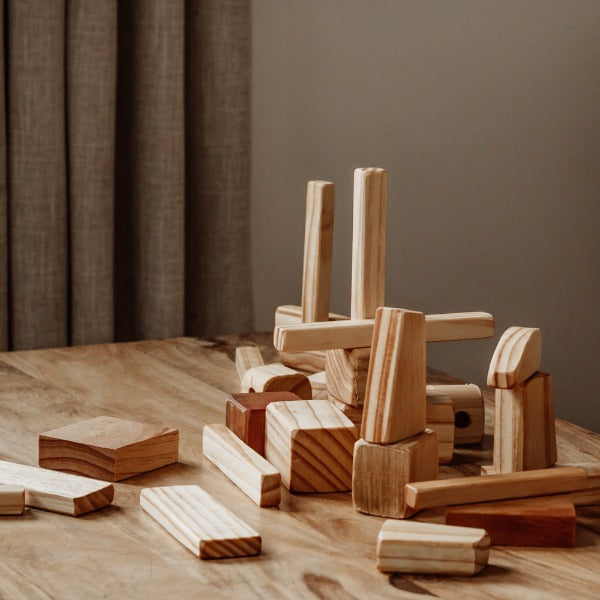 Natural Wooden Blocks NZ Made