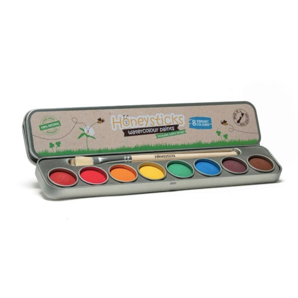 Honeysticks Natural Washable Watercolour Paints - 8 Colours