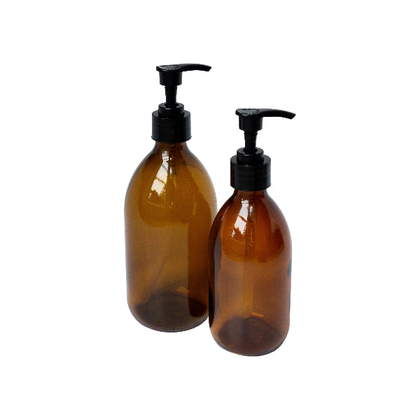 Amber Glass Lotion Pump bottle - 2 sizes
