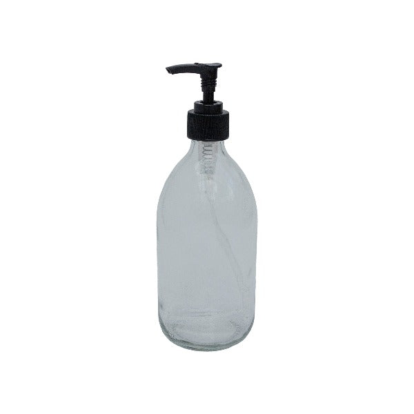 Clear Glass Lotion Pump bottle 500ml