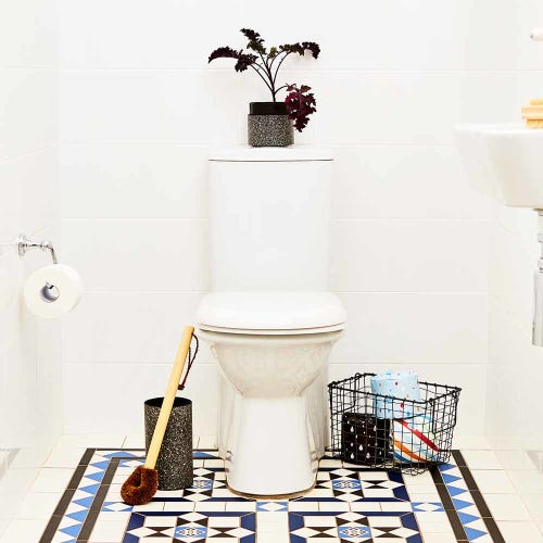 Eco Max Paper Pottery Toilet Brush Holder