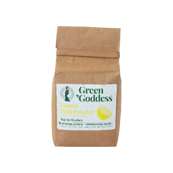 Green Goddess Lemon Dish Washing Powder - Plastic Free