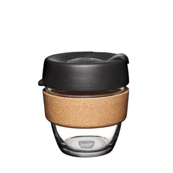 KeepCup Reusable Coffee Glass Cup Brew - Cork - 227ml - Espresso