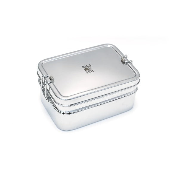 Stainless Steel Lunchbox Double-Layer Rectangular - Large