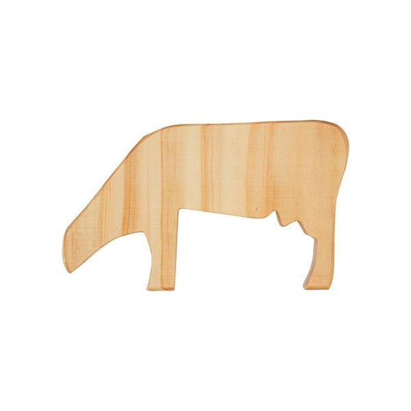 Natural Wooden Cow Toy