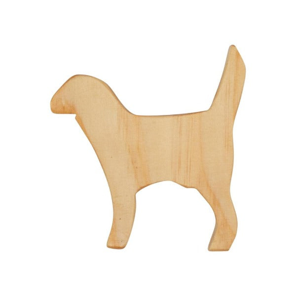 Natural Wooden Dog Toy