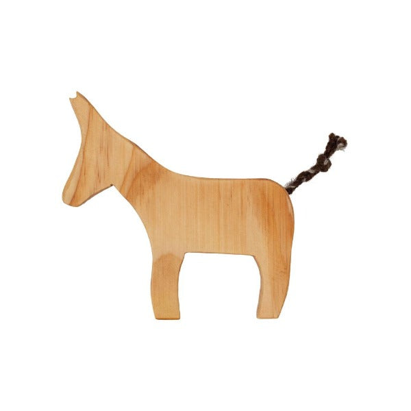 Natural Wooden Donkey Toy