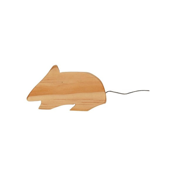 Natural Wooden Mouse Toy