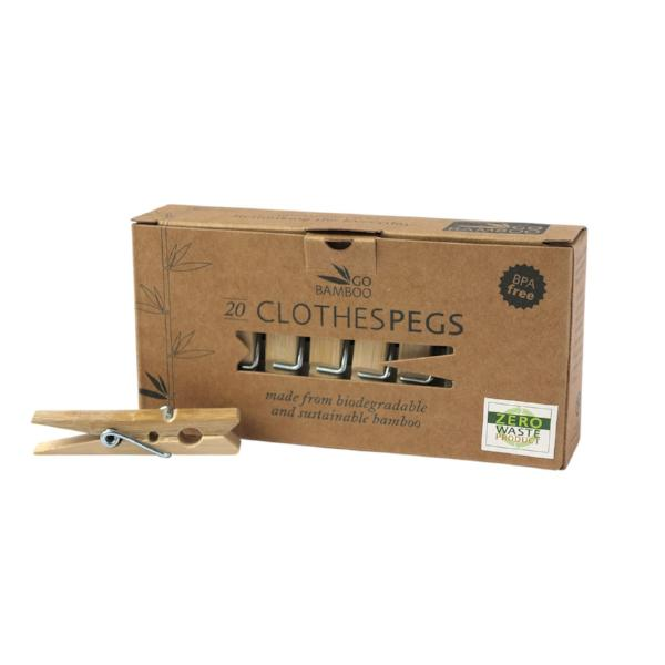Go Bamboo Pegs - Plastic Free Pegs