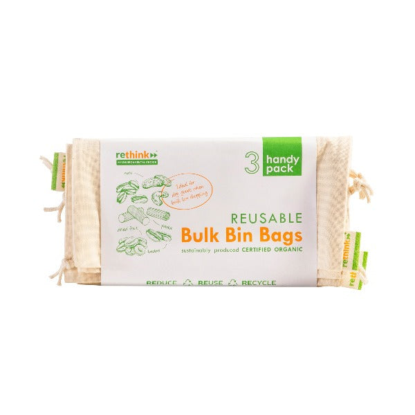 Rethink Reusable Bulk Bin Bags - Small x3 pack
