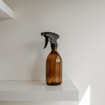 Reusable Amber Glass Trigger Spray Bottle