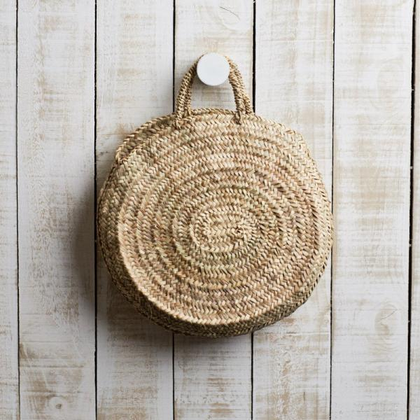 Round Woven Basket Bag