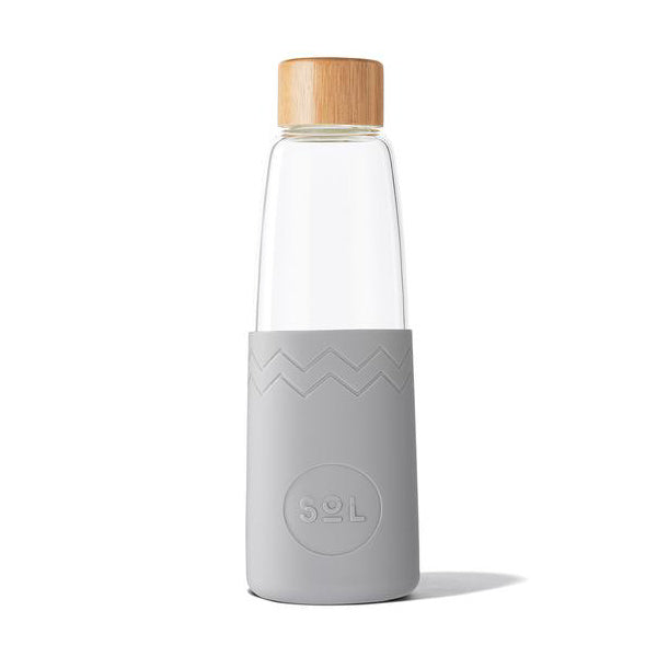 Sol Glass Water Bottle - Cool Grey