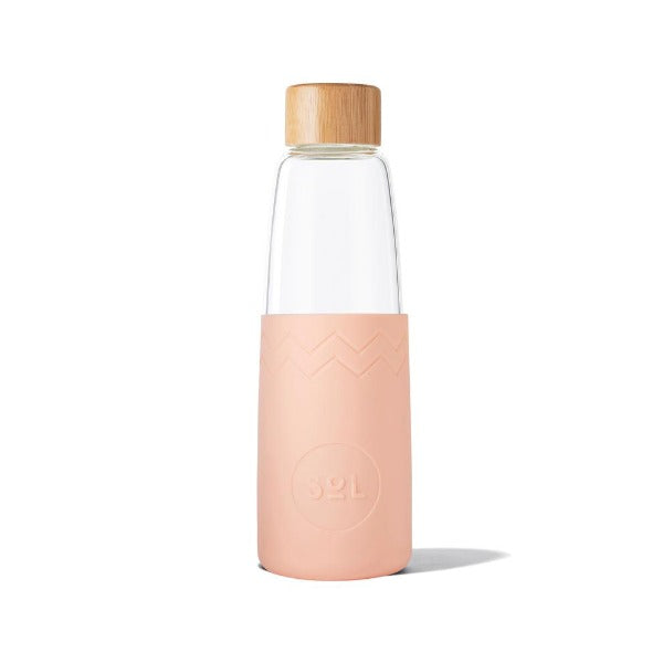 Sol Glass Water Bottle - Paradise Peach