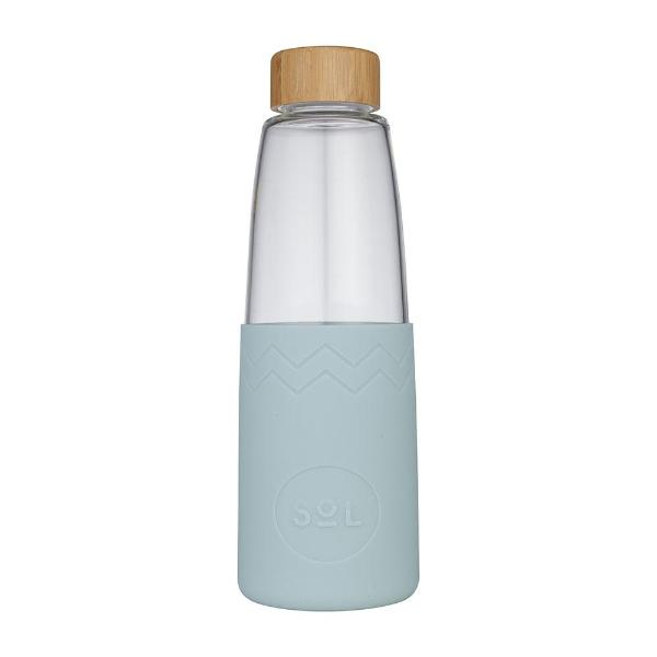 Sol Glass Water Bottle - Cool Cyan