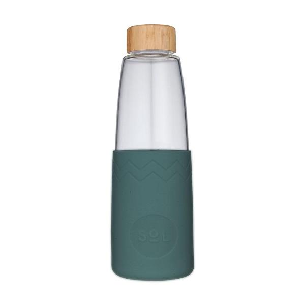 Sol Glass Water Bottle - Deep Sea Green