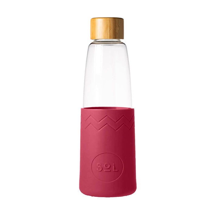 Sol Glass Water Bottle - Radiant Rose