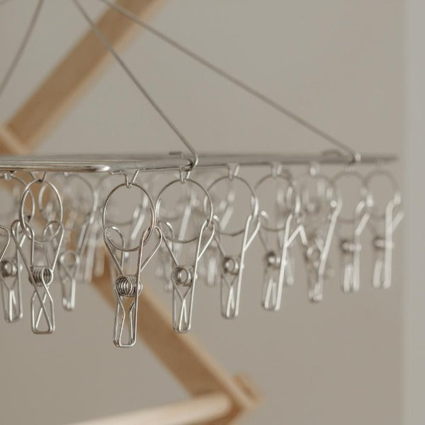 Stainless Steel Peg Clothes Hanger x 36 pegs
