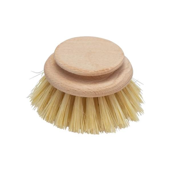 Wooden Dish Brush with replaceable tampico fibre head