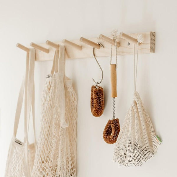 Wooden Wall Hung Peg Rack - 2 sizes