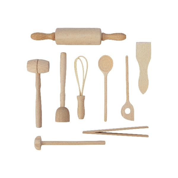 Kids Wooden Kitchen Tool Play Set