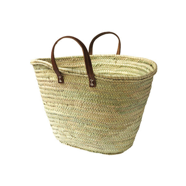 Woven Eco Market Basket with handles - Large