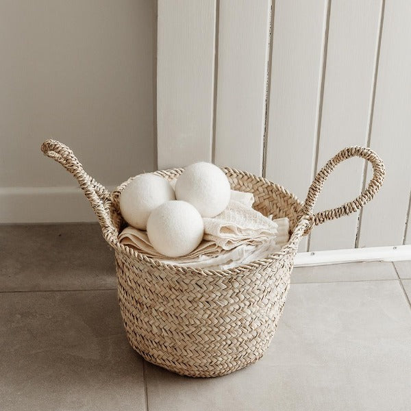 Woven Fair Trade Storage Basket with handles