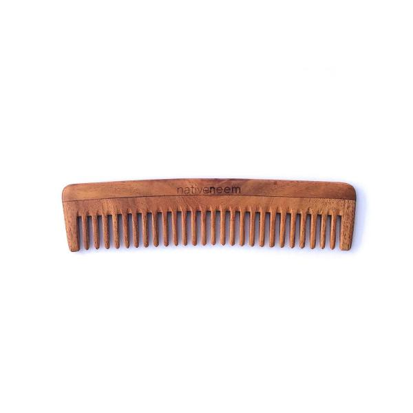 Wooden Neem Comb Wide Tooth