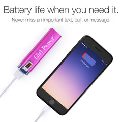 Girl Power Portable Battery Accessory Battery Life