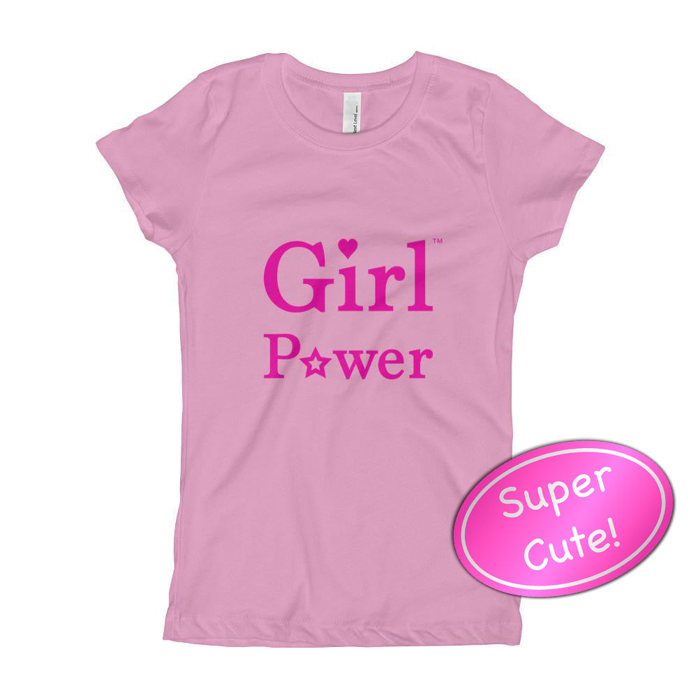 Girl Power Princess Cut Youth Tee Shirt