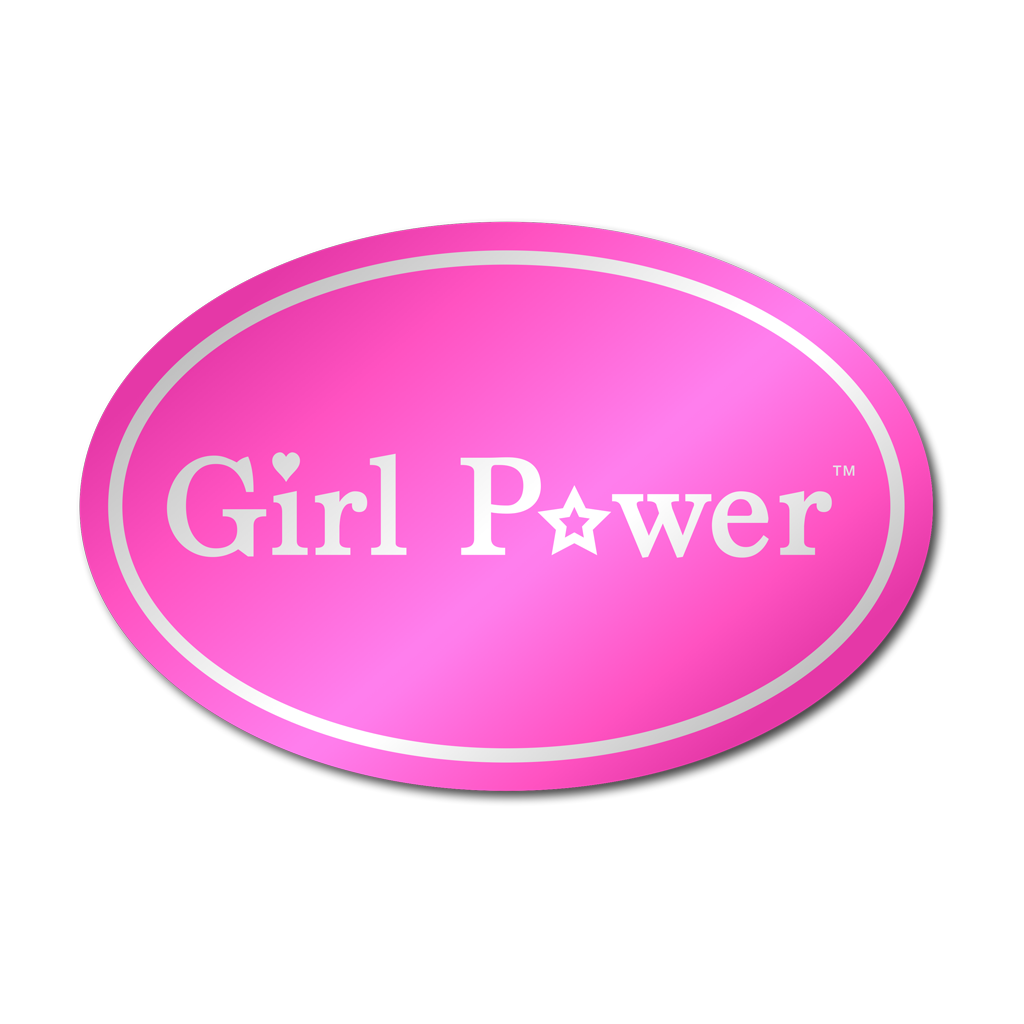 Girl Power Metallic Sticker