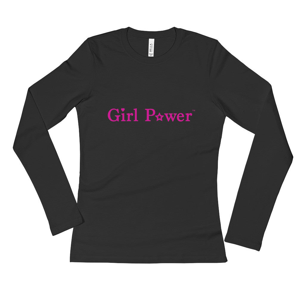 Long Sleeve Shirt (Pink Text)