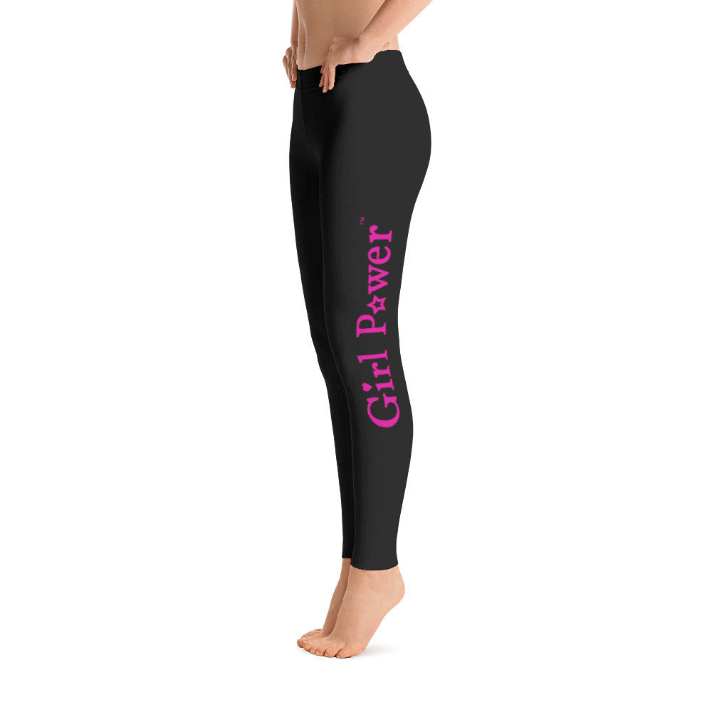 Leggings (Pink Text)