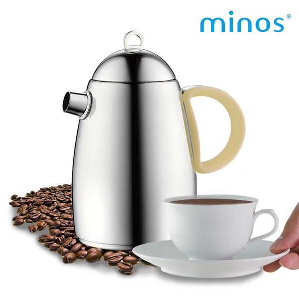 Coffee Server (16oz) - Stainless Steel Coffee Serving Carafe with Silicon Handle