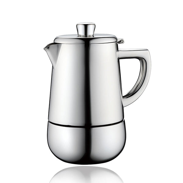 Moka Pot (4-cup & 6-cup) - Stainless Steel and Heatproof Handle Espresso Maker