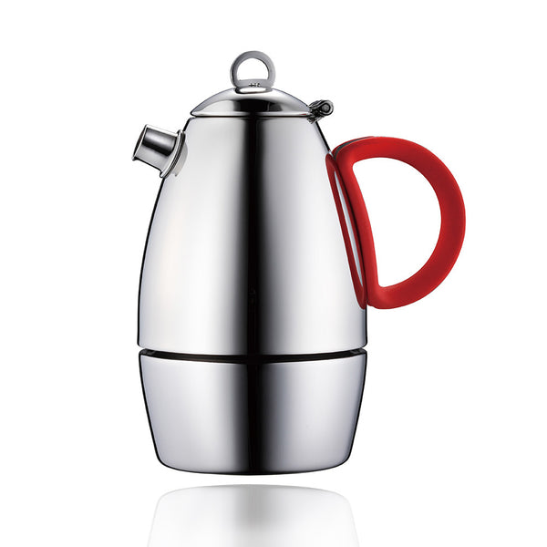 Moka Pot (3-cup & 6-cup)- Stainless Steel Espresso Maker with Silicon Handle