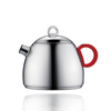 Teapot (17oz) - Stainless Steel Table Serveware with Silicon Handle