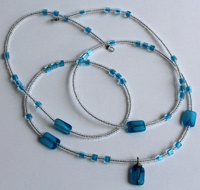 Blue & White Wastebeads