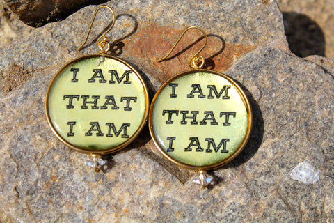 "Oneness ""I AM"" Earrings Perfect Imperfections"