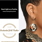 Enchanted Gold Feather Earrings