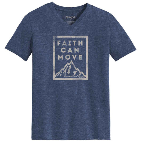 Faith Can Move V-Neck T-Shirt