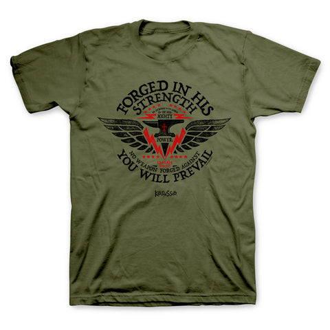 Forged In His Strength T-Shirt