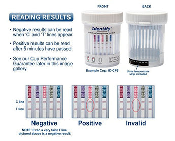5 Pack - 10 Panel Drug Test Cup Testing Instantly for 10 Different Drugs:  (THC), (COC), (OXY), (MOP), (AMP), (BAR), (BZO), (MET), (MTD), (PCP)