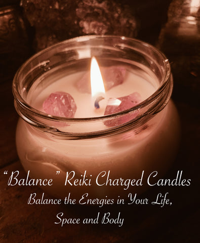 Balance Reiki Charged Candles - For the Love of Natural Living, LLC