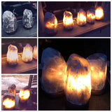 Grey Himalayan Salt Lamp RARE - For the Love of Natural Living, LLC